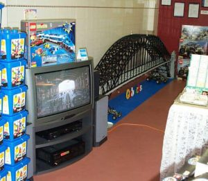 Ross Crawford's Sydney Harbour Bridge at the OzBricks meeting. 28th April 2002. Photo by Ross Crawford